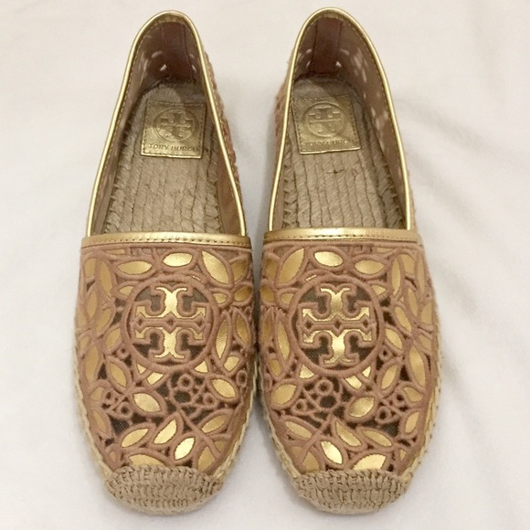 a21b5f6fcaf5 Tory Burch Shoes - Tory Burch Rhea Metallic Flat Espadrilles